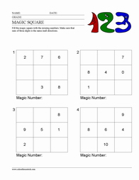 Worksheets Magic Squares Worksheet math magic square worksheet squares worksheets blank worksheet